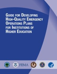 Guide for Developing High-Quality Emergency ... - The White House