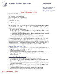 Draft letter from the NBSB to the Secretary