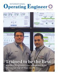 Operating Engineer - Spring 2014