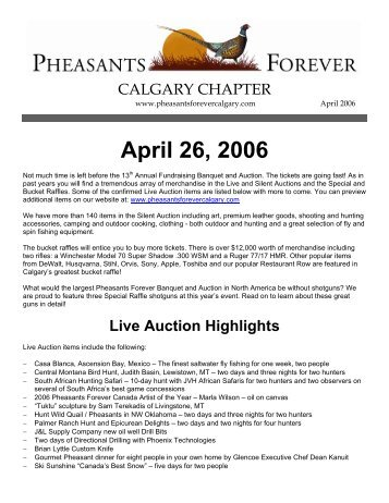 March 2006 newsletter.pdf - Pheasants Forever