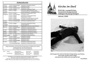 Kirche im Dorf - Evangelische Kirchengemeinde Aldingen am Neckar
