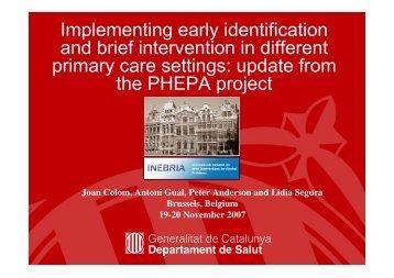 Phepa Workshop Brussels