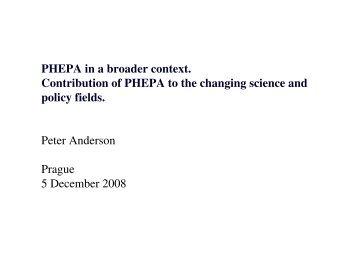 Broader context Phepa, Peter Anderson