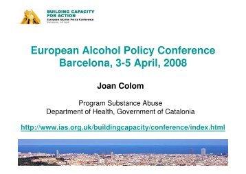 N - Introduction Barcelona Conference Joan Colom - PHEPA