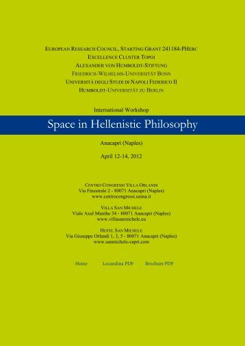 Space in Hellenistic Philosophy - PHerc