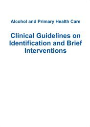 Clinical Guidelines on Identification and Brief Interventions