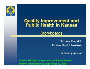 Quality Improvement and Public Health in Kansas Quality ...