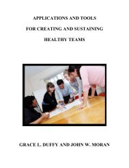 Applications and Tools for Creating and Sustaining Healthy Teams