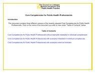 Core Competencies for Public Health Professionals