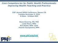 Core Competencies for Public Health Professionals: Improving ...