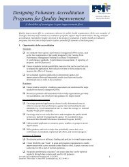 Designing Voluntary Accreditation Programs for Quality Improvement