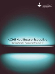 ACHE Healthcare Executive - Public Health Foundation