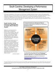 South Carolina: Developing a Performance Management System