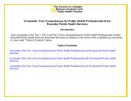 Crosswalk: Core Competencies for Public Health Professionals ...