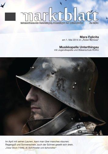 Marktblatt 01 / 2014