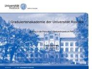 Vorstellung der Graduiertenakademie und Fördermöglichkeiten für ...