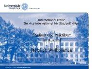 Studium und Praktikum im Ausland - Universität Rostock