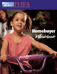 Homebuyer Workbook - Pennsylvania Housing Finance Agency