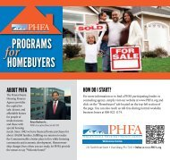 Programs for Homebuyers - Pennsylvania Housing Finance Agency