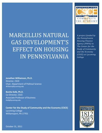 Marcellus Natural Gas Development's Effect on Housing in ...