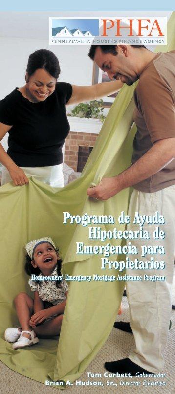 Programa de Ayuda Hipotecaria de Emergencia para Propietarios