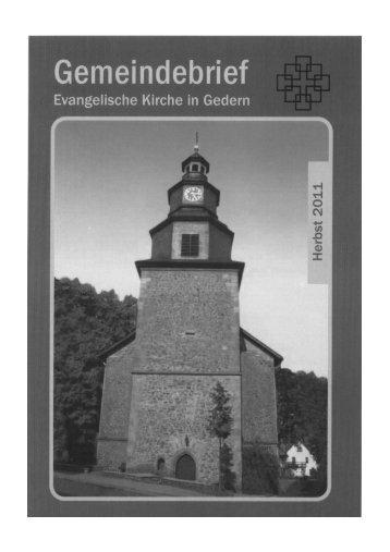 Aus der Gemeinde - Evangelische Kirchengemeinde Gedern