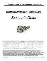 PHFA Seller's Guide - Pennsylvania Housing Finance Agency