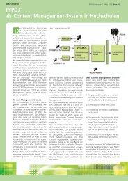 TYPO3 als Content Management-System in Hochschulen