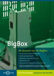 Euro Pool System, experience the benefits BigBox De plussen van ...