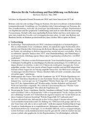 Hinweise für die Vorbereitung und Durchführung von Referaten