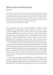 Základy explikace sémantických pojmů