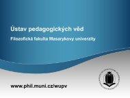 najdete zde - Filozofická fakulta MU