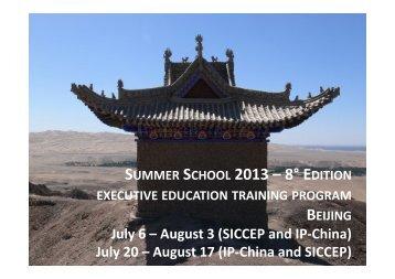 BROCHURE SUMMER INSTITUTE 2013 - Deadline December 15 ...