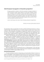 Indo-European laryngeals in Afroasiatic perspective1 - Вопросы ...