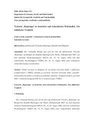 """Textsorte """"Reportage"""" in deutschen und tschechischen Printmedien ..."""
