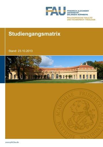 Handreichung Studiengangsmatrix - Philosophische Fakultät ...