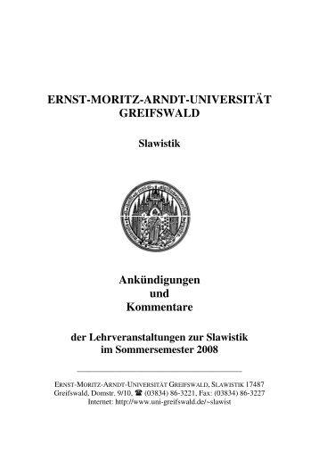 Slawistik SS2008 Kommentare_erg_080402 - Ernst-Moritz-Arndt ...