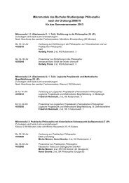 Mikromodule des Bachelor-Studiengangs Philosophie