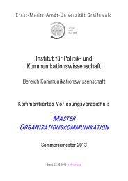 Kommentiertes Vorlesungsverzeichnis SoSe 2012 - Ernst-Moritz ...