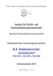 Kommentiertes Vorlesungsverzeichnis SoSe 2013 - Ernst-Moritz ...