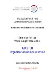 Kommentiertes Vorlesungsverzeichnis WS 2012/13 Bereich Master ...