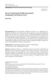 Was ist Vergleichende Politikwissenschaft? Standpunkte ... - Springer