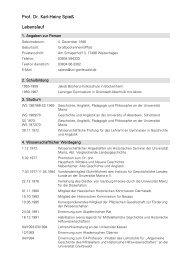 Prof. Dr. Karl-Heinz Spieß Lebenslauf - Philosophische Fakultät