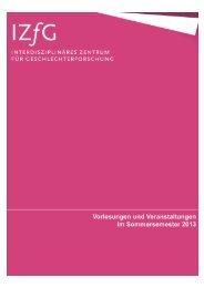 Vorlesungsverzeichnis Sommersemester 2013 - Philosophische ...