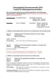 institut für erziehungswissenschaft - Ernst-Moritz-Arndt-Universität ...
