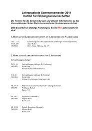 Lehrangebote Sommersemester 2011 Institut für ...