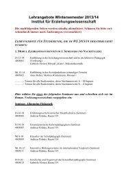 unkommentiertes VLV WS 2013/14