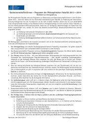 Merkblatt zur Antragstellung - Philosophische Fakultät
