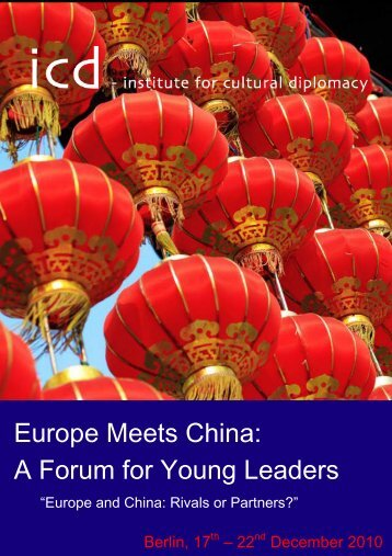 Europe Meets China - Institute for Cultural Diplomacy