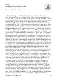 Spanische Literaturkritik im 19. Jh.
